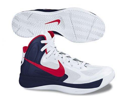 Nike Zoom Hyperfuse 2012 - Zapatillas de baloncesto weiß/schwarz/rot