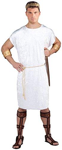 Forum Novelties Men's Velvet Costume Tunic, White, (White Knight Costumes)