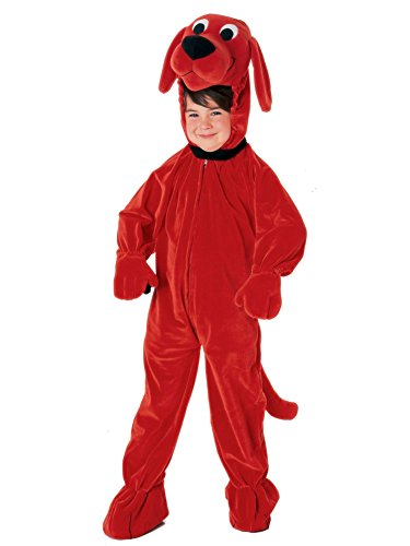 [CHILD Medium 8-10 - Clifford The Big Red Dog DELUXE Costume] (Adult Clifford Costumes)