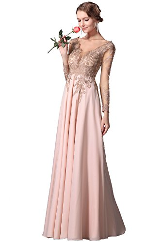 c021b9d12518 eDressit Empire Waist Long Lace Sleeves Gown With V Cut (00150701)