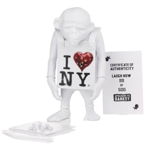 Laugh Now I Heart New York DIY White 6