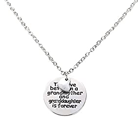Vktech® Hot the Love Between A Grandmother and Granddaughter Is Forever Necklace