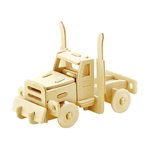 PONTE COLLECTION Wooden 3D Puzzles Truck Kit Build Car Woode