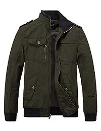Wantdo Men's Lightweight Stand Collar Utility Windbreaker Jacket