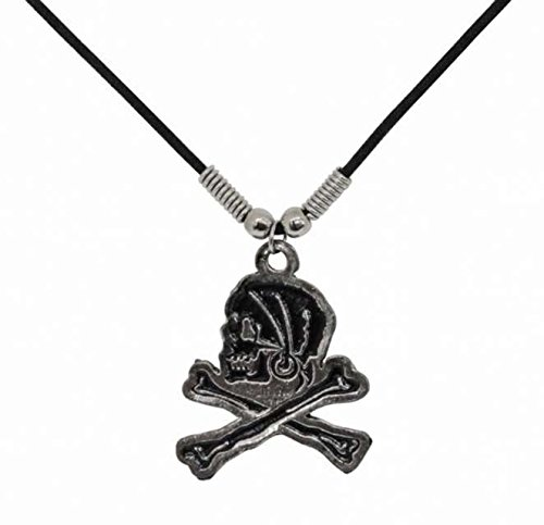 Gothic Necklace Pirate Skull