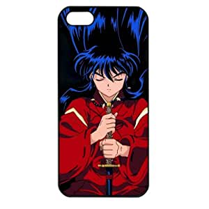 InuYasha Manga Anime Comic Apple iPhone 5 TPU Soft Black or White case (Black)