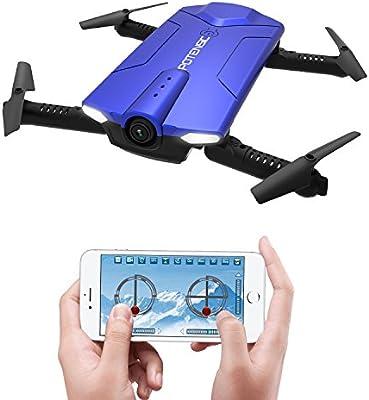 Potensic Drone Plegable y Portátil con Cámara WiFi 720P, Mini ...