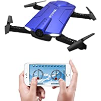 Drone with Camera, Potensic F188WH RC Drone Quadcopter With 720P HD WiFi Camera Live Video Feed RTF 4 Channel 2.4GHz Altitude Hold &Foldable Arms Function(Blue)