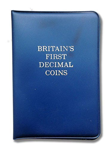 Britain's first decimal coins 1971 Decimal Day presentation pack. Coins from 1968 and 1971 with 1/2p, 1 pence, 2 pence, 5 pence and 10 pence uncirculated