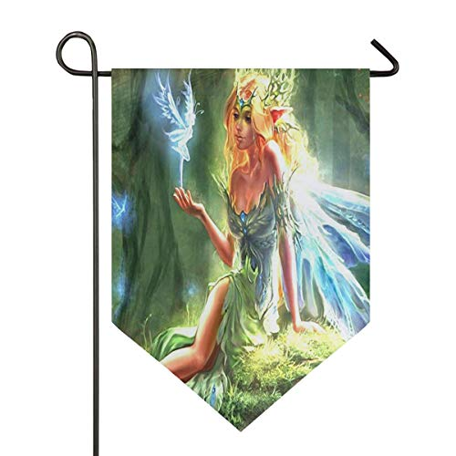 Beauty Elf Garden Flag Indoor & Outdoor Decorative Flags for Parade Sports Game Family Party Wall Banner Season Porch Lawn Double Sided 28 x 40 inches