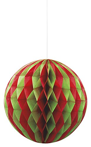 Green Christmas Tissue Paper Honeycomb