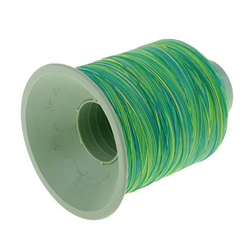 Flameer Rod Guide Wrap Fishing Line Thread Strong Nylon Fiber Rod Building Repairing - Green ()