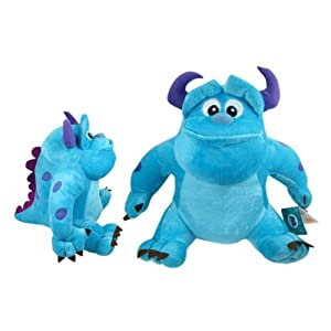 Disney 6 Inch Smiling Sully Plush Doll – Monsters Inc Plush Toy with Suction Cup