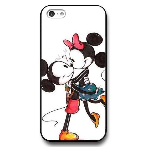 Customized Disney Cartoon Mickey Mouse Black Hard Plastic Plastic iPhone 5c Case