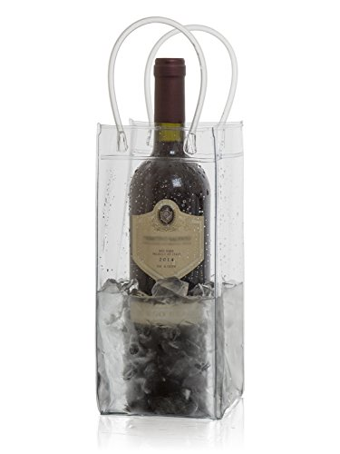 Wine Chiller Ice Bag Party Wine Cooler With Handle Makes a Great Party Wine Bag for White Wine, Beer or any Cold (Chiller Bag)