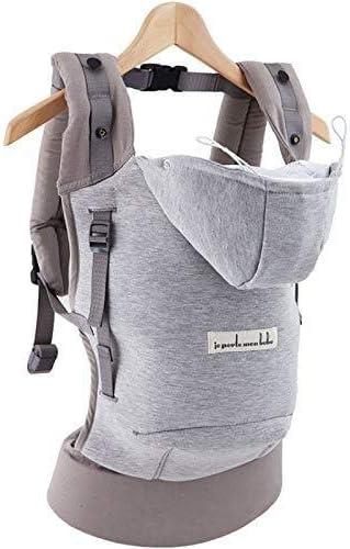 Love Radius rialzo e poggiatesta Hc43 grigio flanella Je porte mon bebe Hoodiecarrier in cotone