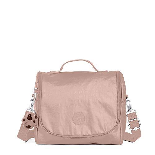 (Kipling Kichirou Metallic Lunch Bag One Size Rose Gold Metallic)
