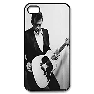 ZK-SXH - Johnny Cash Custom Case Cover for iPhone 4,4G,4S,Johnny Cash DIY Case