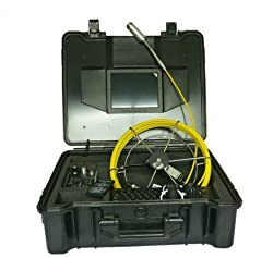 Self-leveling Video Endoscope 30m Cable Sewer Pipe Inspection Camera With Transmitter