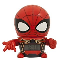 Bulb Botz Infinity War Night Light Marvel Avengers Iron Spider Alarm Clock