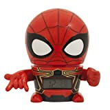 Bulb Botz Marvel 2021692 Avengers: Infinity War Iron Spider Kids Night Light Alarm Clock with Characterised Sound | Red/Black | Plastic | 5.5 inches Tall | LCD Display | boy Girl | Official