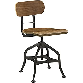 Modway EEI-2044-BRN Mark Industrial Dining Stool, Brown