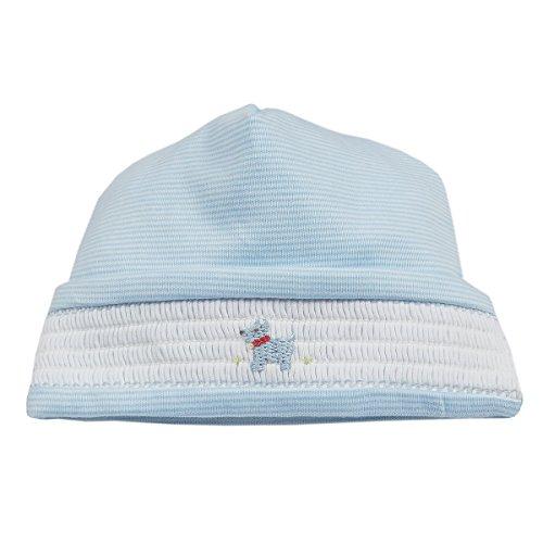 (Kissy Kissy Baby Boys Sweet Scottie Stripe Hat - Lt Blue-Small)