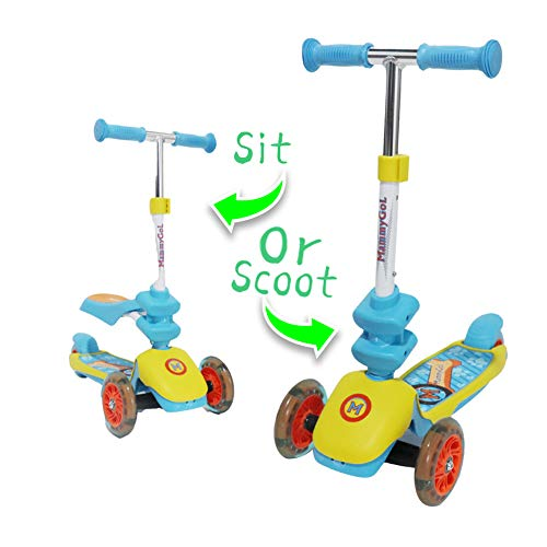 SHAREWIN Mini Kids Kick Scooter for Toddlers Blue
