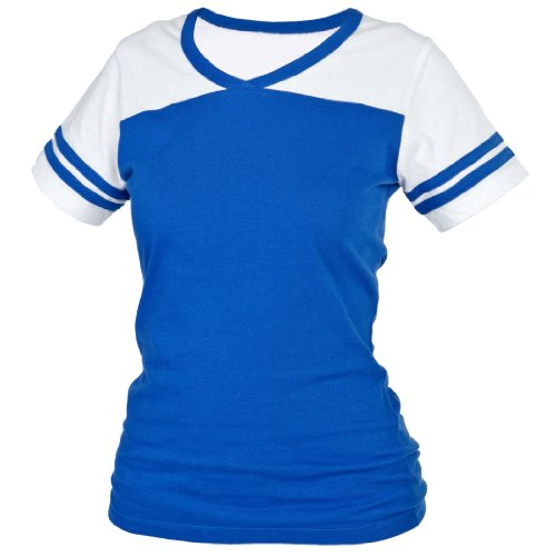 Blue Powder Puff (Royal Blue Powder Puff V Neck Neck Tee Shirt T-Shirt, Extra Large)