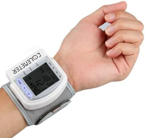 LCD Digital Wrist Blood Pressure Monitor Heart Beat Meter 60 Memory