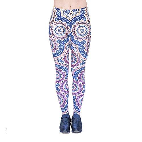 Yoga Legging Sun Mujer Biran Único Pantalones Moda Mandala Lga46012 Fitness Impresión Altos Elásticos De Cintura Alta Ywnwx4qS