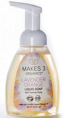 Makes 3 Organics Liquid Soap, Lavender Orange, 8 Fluid Ounce