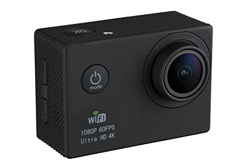 GVB GVB-CM Ultra HD 4k Wide Angle Sports Action Camera with Waterproof Housing (Black) (Operation Buck Black)