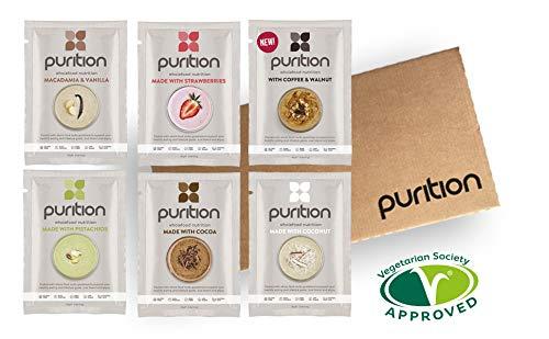 Purition Caja de muestras de batidos de proteínas (6 x 40g). Batido para