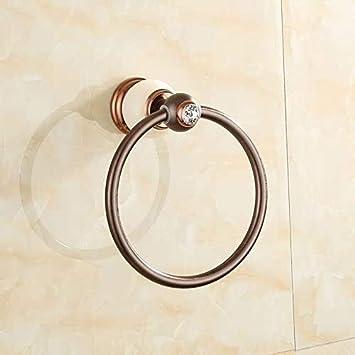 Anillo de toalla Montado en la pared bastidores de toallas Toalla anillo de múltiples funciones de la barra de toalla de baño for la cocina de la suspensión de la toalla de cobre de bronce de época de