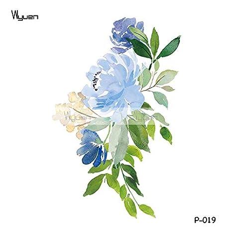 HXMAN 3 Unids Flor Impermeable Tatuaje Temporal Pegatinas Para Las ...