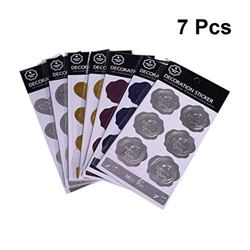 SUPVOX Sobres Etiquetas Adhesivas metálicas DIY Etiqueta Adhesiva Decorativa para el Embalaje Hornear decoración del...
