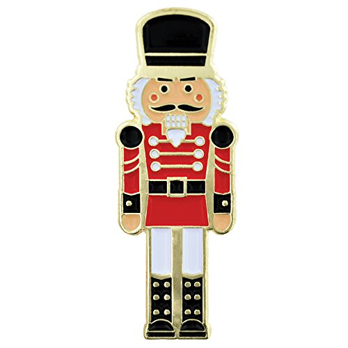 discount PinMart's Festive Nutcracker Holiday Christmas Enamel Lapel Pin save more