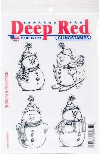Snowman Collection Rubber Cling Stamp