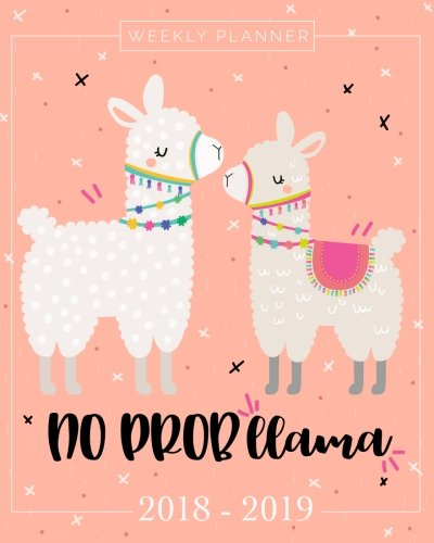 2018-2019 Planner Weekly And Monthly: Academic Calendar + Schedule Organizer and Journal Notebook | Inspirational Quotes And Llama Lettering Cover | ... July 2019 (2018–2019 Pretty Simple Planners)