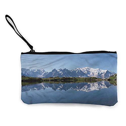 Zip Mini Wallet Lake,Mont Blanc Alps France W8.5