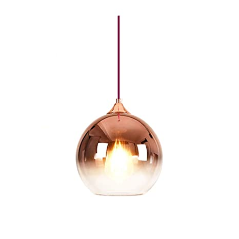 MZStech Lámpara colgante esférica de color degradado ...