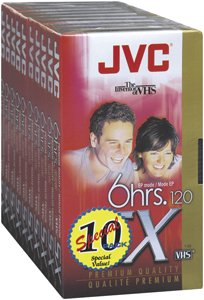 VHS 10 PACK ( T120DU10 ) by JVC (Image #1)