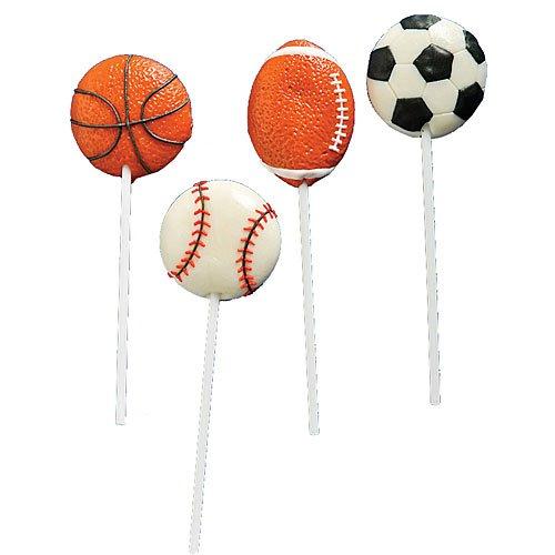 Sport Ball Lollipops Dozen ()