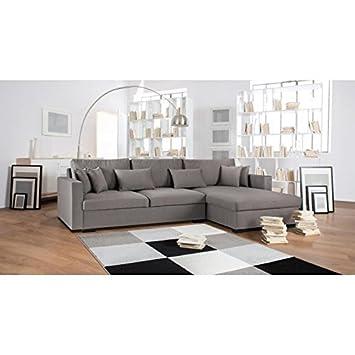 Malma canapé d angle réversible 5 places 290x103 173x85 cm tissu