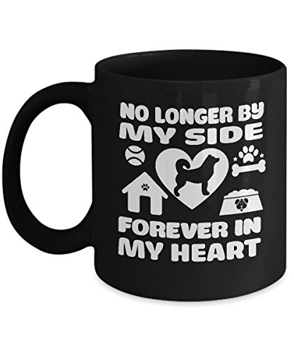 Shirt White Forever My Heart Dog Memorial Birthday Funny Coffee Mug 11oz -