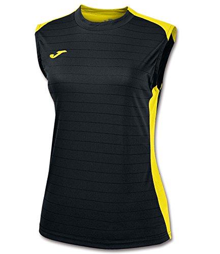 Joma Campus II - Camiseta de equipación para mujer Negro / Amarillo