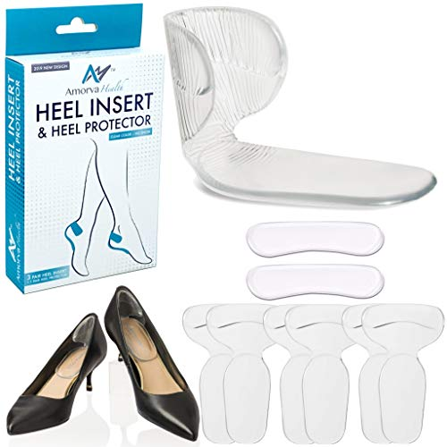 Heel Grips, Best Quality High Heel Cushion Silicone Shoe Pads for Too Big Shoes Anti-Slip Heel Grips Inserts Liners Foot Insoles for Women, Back of Heel Protector