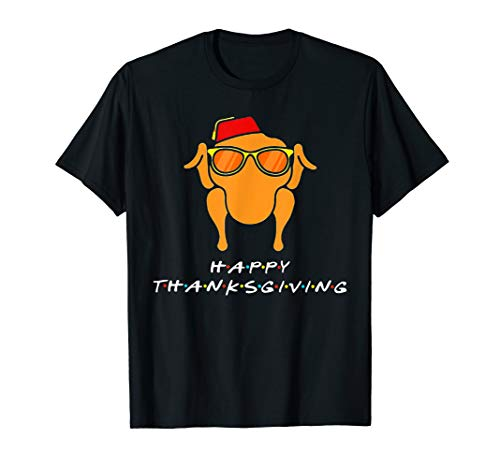 Happy Thanksgiving Turkey Face Funny Friends T-Shirt