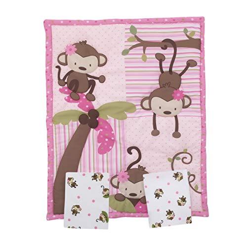 Hemau Premium New Soft Little Bedding by Little Monkeys 3 Piece Porta Crib/Mini Crib Nursery Bedding Set - Comforter, 2 Sheets | Style 503195485